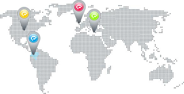 Mapa de contacto de exusmultimeida en colombia, estados unidos, reino unido e italia. Diseño Páginas Web y Sitios Web Administrables en Pereira, Armenia y Manizales - Eje Cafetero